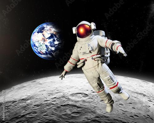 Aluminium Nasa Astronaut landing on the Moon