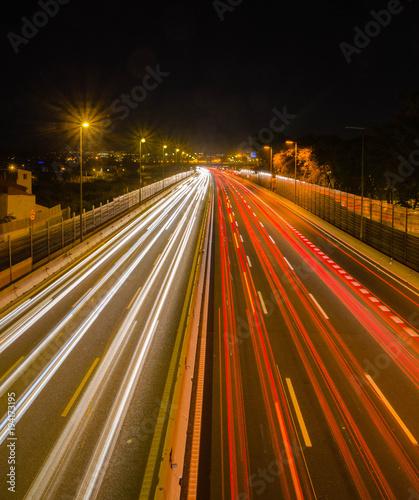Aluminium Nacht snelweg Autopista