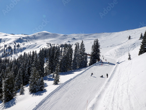 Papiers peints Magasin de sport Skifahren in Saalbach Hinterglemm Leogang