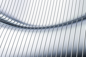 Abstract metallic wave background, 3D rendering