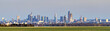 panoramic view of Frankfurt skyline