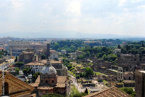 Poster Rome Veduta aerea dei fori romani