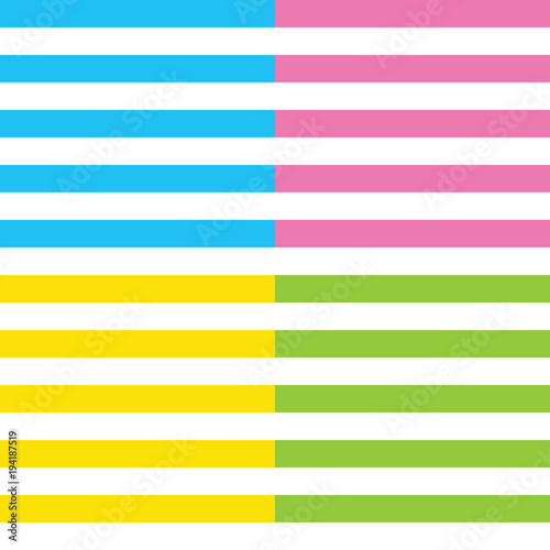 Stripes vector background with horizontal lines. Striped set. Summer theme. Design for fabric, textile, fashion design, pillow case, gift wrapping paper and wallpaper etc.