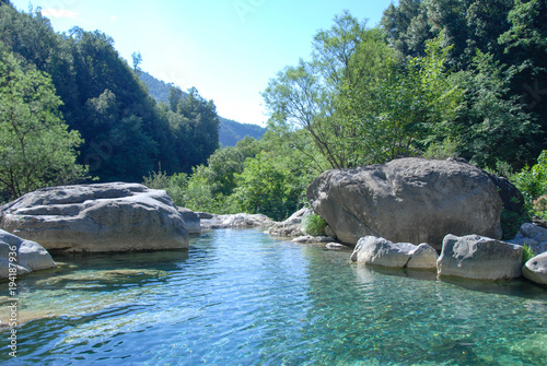 Fotobehang Liguria Creek Rio Barbaria - Liguria -Italy