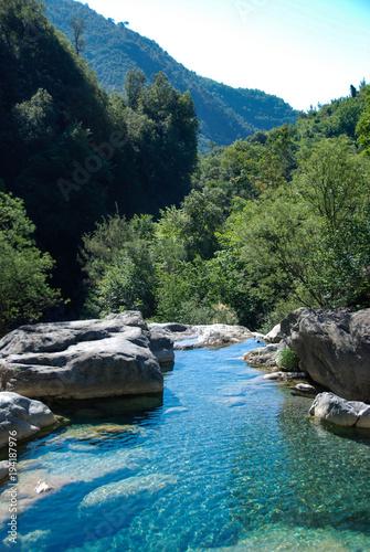 Foto op Canvas Liguria Creek Rio Barbaria - Liguria -Italy