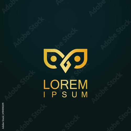 abstract owl gold logo