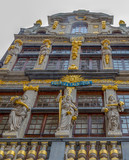 Facade of the Guilds of Grand Place, Brussels, Belgium - 194196307