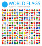 All World Flags - Vector Round Flat Icons - 194196316