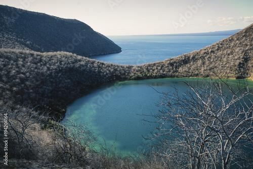 Darwin Lake is a salty lake on Isabela Island, Galapagos.