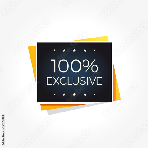 100% Exclusive Label