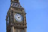 Big Ben in London with blue sky background - 194210127