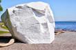 Famous Boulder at White Rock beach, British Columbia, Canada