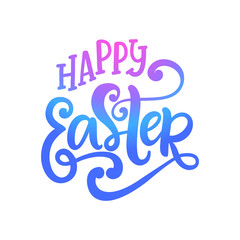 Happy Easter banner, greeting card background template