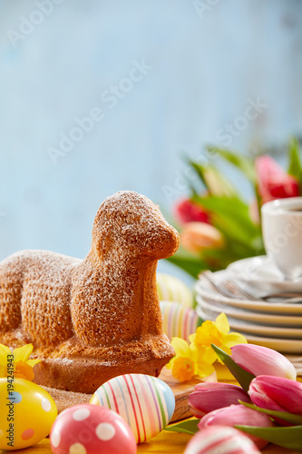 Speciality Easter cake in the form of a lamb