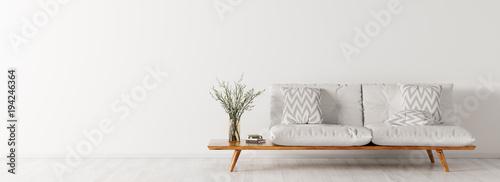 Interior with sofa panorama 3d rendering © Vadim Andrushchenko
