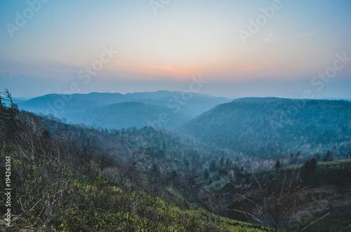 Foto op Aluminium Blauwe jeans Sunset