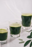 Healthy green smoothie. Natural, organic healthy juice in bottle for weight loss diet - 194263727