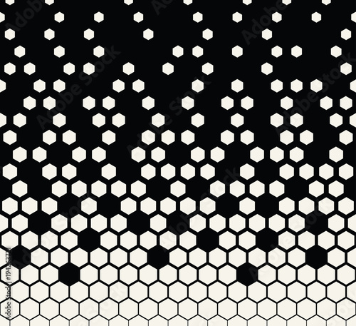 hexagon halftone geometric vector patter