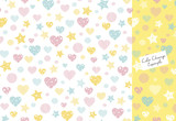 Hearts, stars and stripes pattern (pattern swatch)