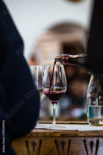 Fototapeta Red Wine Glass - Close Up View