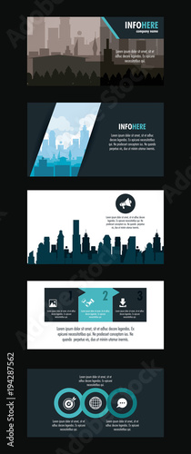 City brochure infographic vector illustration graphic design - 194287562