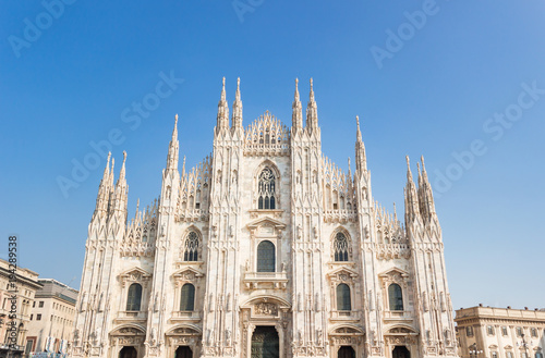 Foto op Canvas Milan Milan Cathedral, Duomo di Milano, one of the largest churches in the world