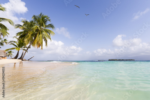 Deurstickers Tropical strand Beach in San Blas Islands, Panama
