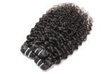 virgin deep wave curly black human hair weaves extensions bundles  for wigs - 194297563