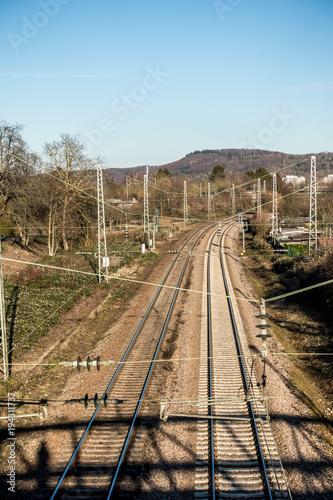 Foto op Canvas Spoorlijn Bahnstrecke