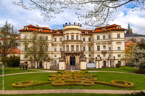 In de dag Praag PRAGUE, CZECH REPUBLIC - APRIL 09, 2017: Lobkowicz Palace and backyard with beautiful gardening. Also German embassy.