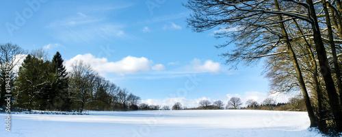 Staande foto Wanddecoratie met eigen foto Winter - Schnee - Landschaft