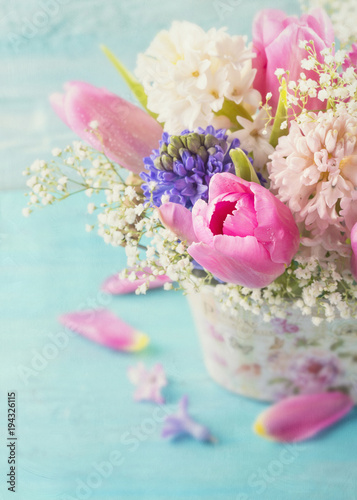 Pastelowe kolorowe kwiaty