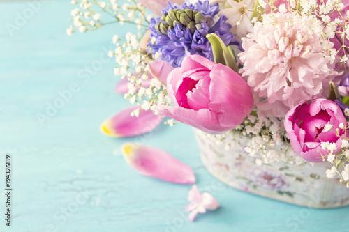Pastelowy kolorowy kwiat