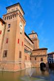 The Estense castle in Ferrara, Emilia Romagna, Italy - 194330173