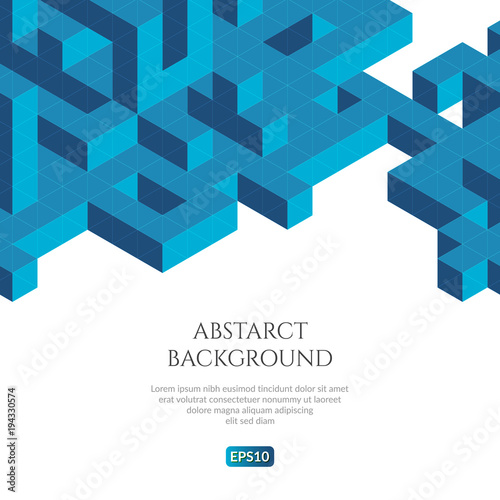 Abstact background in isometric style. The illusion of a three-dimensional image.
