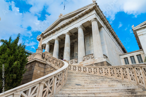 Papiers peints Athenes National library in the center of Athens Greece. One of the Trilogy of neoclassical buildings including the Academy of Athens and the original building of the Athens University in Panepistimiou street