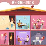 Neighbors Irritation Illustration - 194338776
