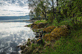landscape on the shore of a lake in Karelia - 194341744