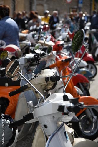 Aluminium Scooter Parcheggio scooter Vespa