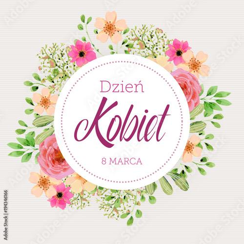 obraz lub plakat Dzień Kobiet - 8 Marca