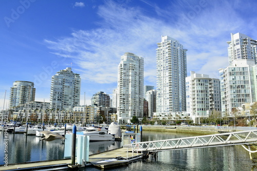 Staande foto Canada High end luxury condominiums in the Yaletown district of Vancouver BC,Canada.