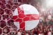 Scoring a Goal, English soccer ball