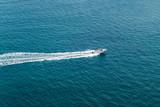 Speed boat in the open sea - 194357365