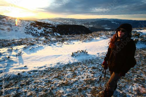 Fotobehang Blauwe jeans Mountain