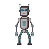 Funny robot cartoon vector illustration graphic design - 194363344
