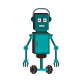 Funny robot cartoon vector illustration graphic design - 194364309