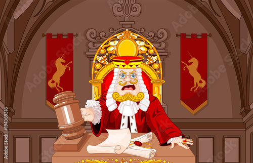 Staande foto Sprookjeswereld King of Hearts Judge with gavel