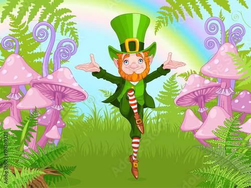 Aluminium Meisjeskamer Lucky Dancing Leprechaun