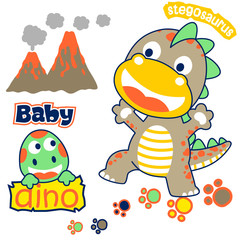 Baby dinosaurs cartoon