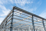 steel structure workshop with blue sky - 194378990